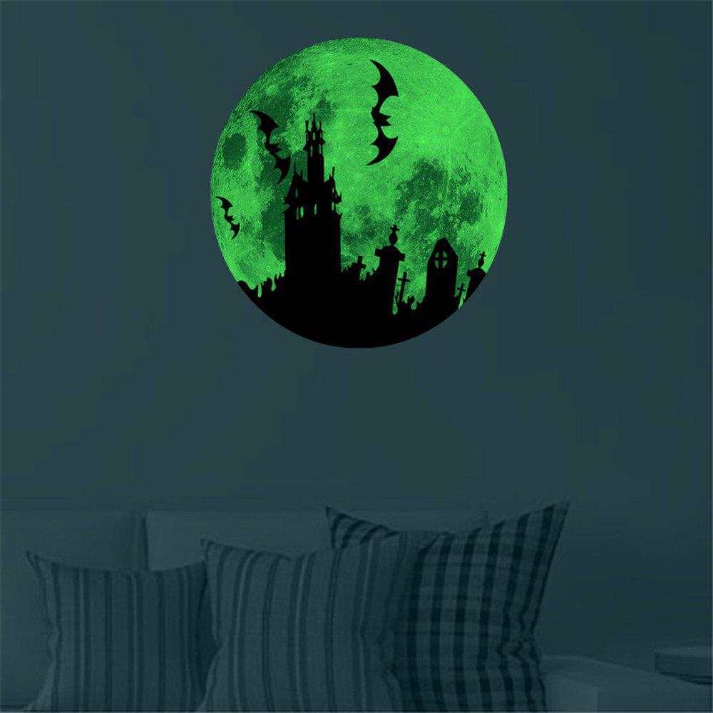 Glow In The Dark Bats Castle Wall Decals 30CM Luminous Sticker At Night 50pcs glow earphone luminous earbuds light metal zipper earphones glowing in the dark headset for xiaomi mi iphone glow night