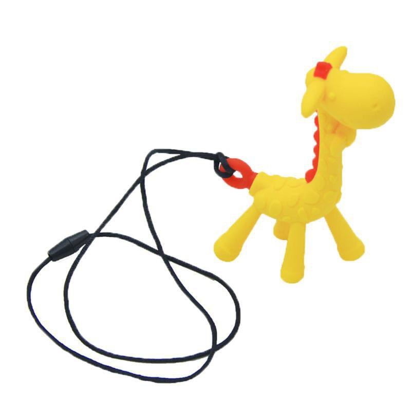 Cartoon Giraffe Shape Silica Gel Teethers Pacifier New Hanging Toy cartoon bouquet silica gel mold