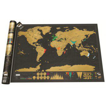 Black Luxury Edition Scratch World Map 82.5 X 59.4CM - BLACK