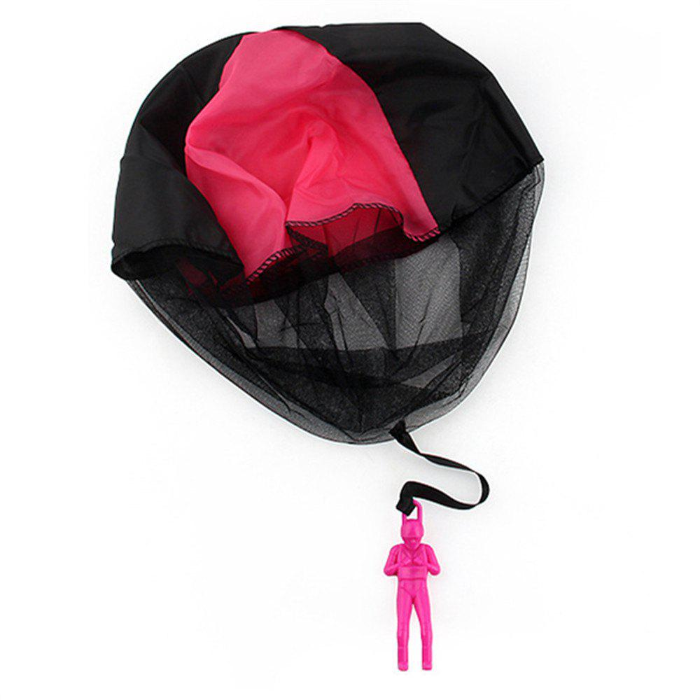 Hand Throwing Parachute for Outdoor Toy Children - VIOLET RED