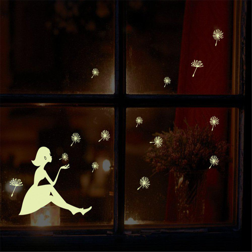 Luminous Cartoon Switch Fluorescent Fairy Moon Stars Sticker romantic fluorescent moon