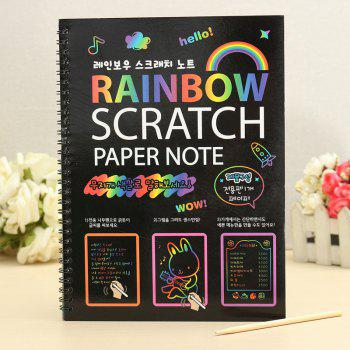 Rainbow Scratch Paper Painting DIY Children Educational Toy - BLACK