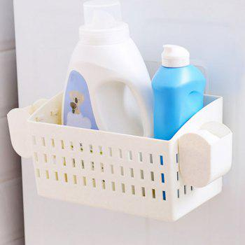Bathroom Punch-Free with Suction Cup Storage Rack - MILK WHITE