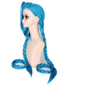 Girls Blue Super Long Braid Best Synthetic Hair Cosplay Wig Party Costume - CELESTE 30INCH