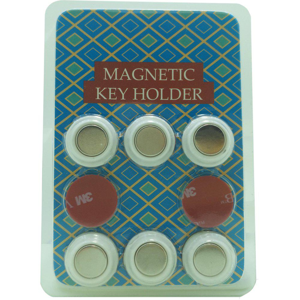 6 PCS Magnetic Key Holder of Simple Style cloud style magnetic key holder white
