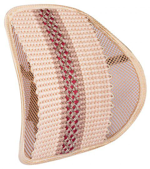 Hand-woven Office Massage Ice Silk Breathable Belt Back - BEIGE