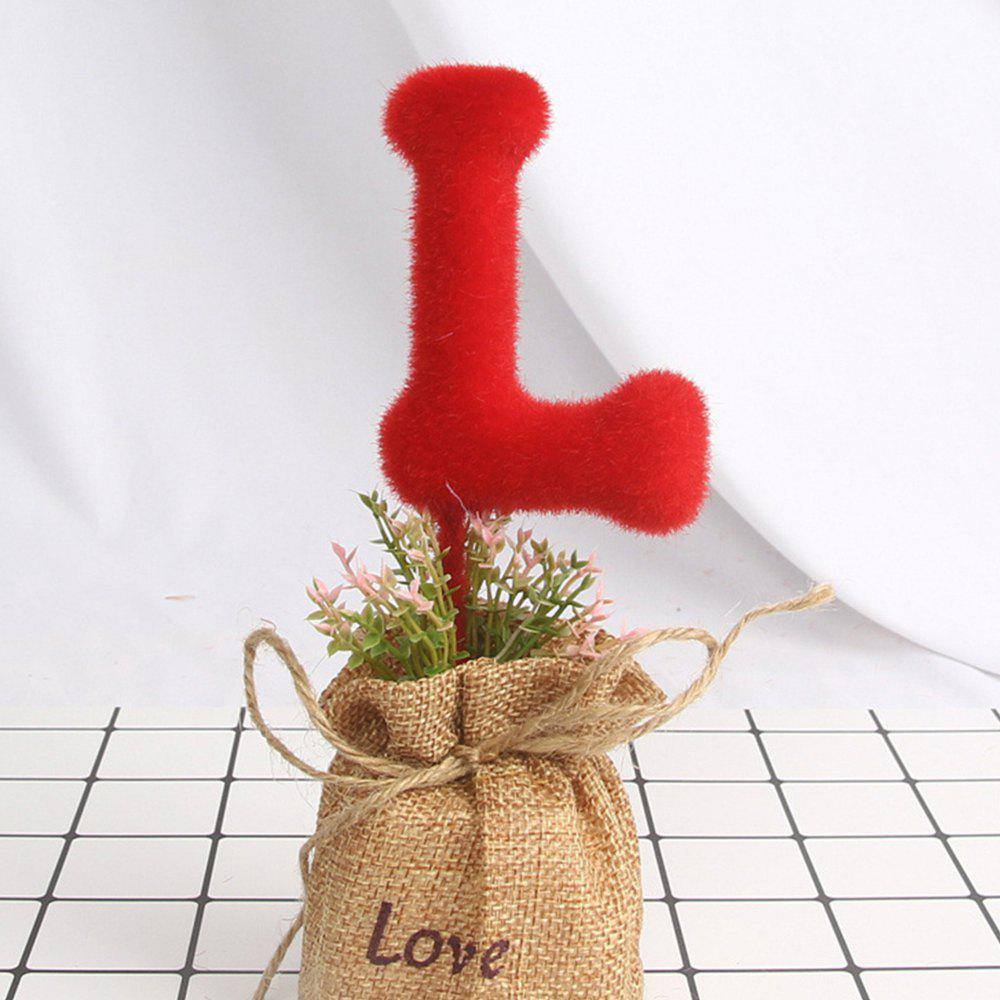 Artificial Love Green Plant - RED