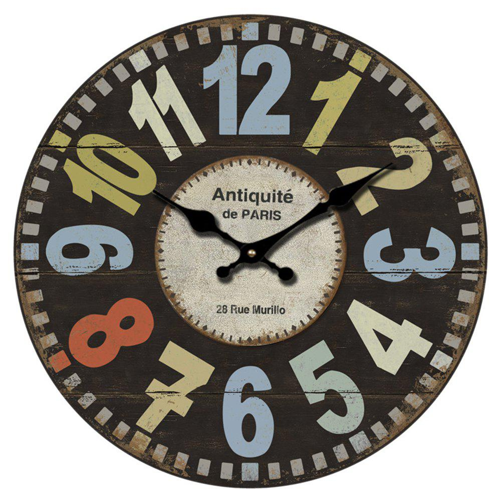 Retro Creative Wooden Wall Clock - TAUPE