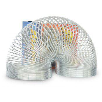 Funny Gadgets Classic Stress-relieve Copper Magic Slinky Metal Rainbow - SILVER