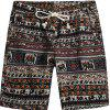 Men Beach Flower Printed Loose Shorts - multicolor E 3XL