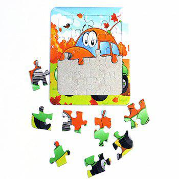 Paper Cartoon Puzzle Children Baby Early Education Toy - multicolor