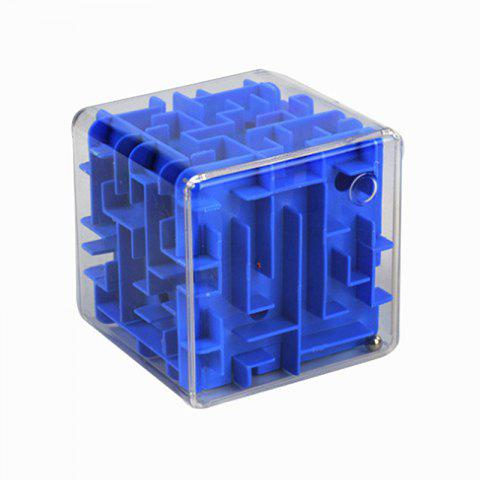 Transparent 3D Maze Marbles Adult Intelligence Decompression Cube - multicolor