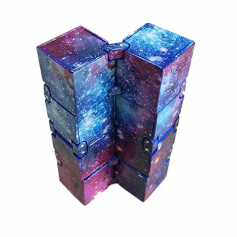 Infinitely Flip Two-in-one Anti-pressure Artifact Creative Finger  Cube - multicolor