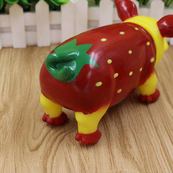 Fruit Pig Model Make a Scream Funny Stress Relief Toy - multicolor