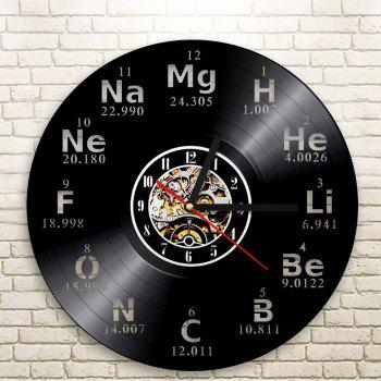 Chemische Vinyl Clock Bedroom Wall Decoration Home Decoration Gift Present - BLACK WITHOUT BATTERY