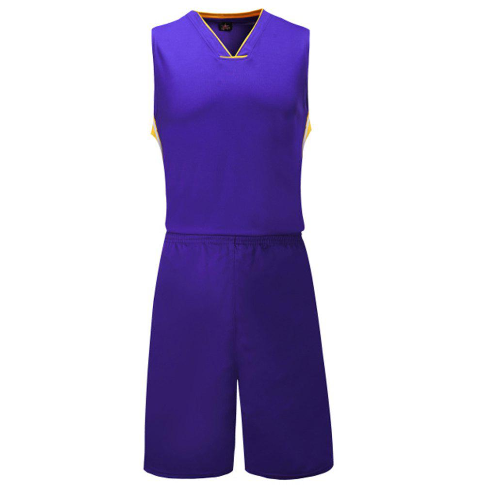 Team Uniform Personality Custom Printed Breathes Training Vest Suit - VIOLET 5XL