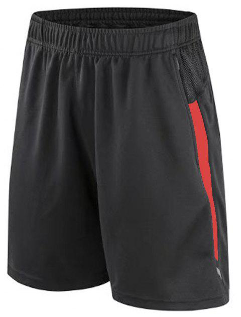 Running Quick Dry Loose Big Code Training Half Sleeve Thin Gym Sports Shorts - RED L