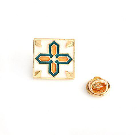 Creative Fashion Brooch Badge Accessories and Couple of Tiles - WHITE 2X2CM
