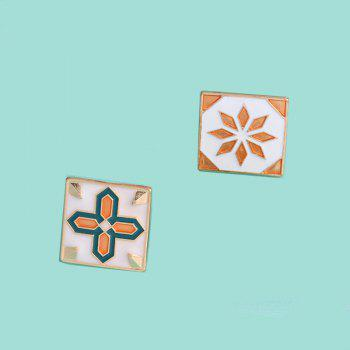 Creative Fashion Brooch Badge Accessories and Couple of Tiles - CANTALOUPE 2X2CM