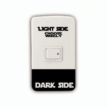 Dark Light Side Personality Switch Sticker Room Wall Decal - BLACK 7.2X9.4CM