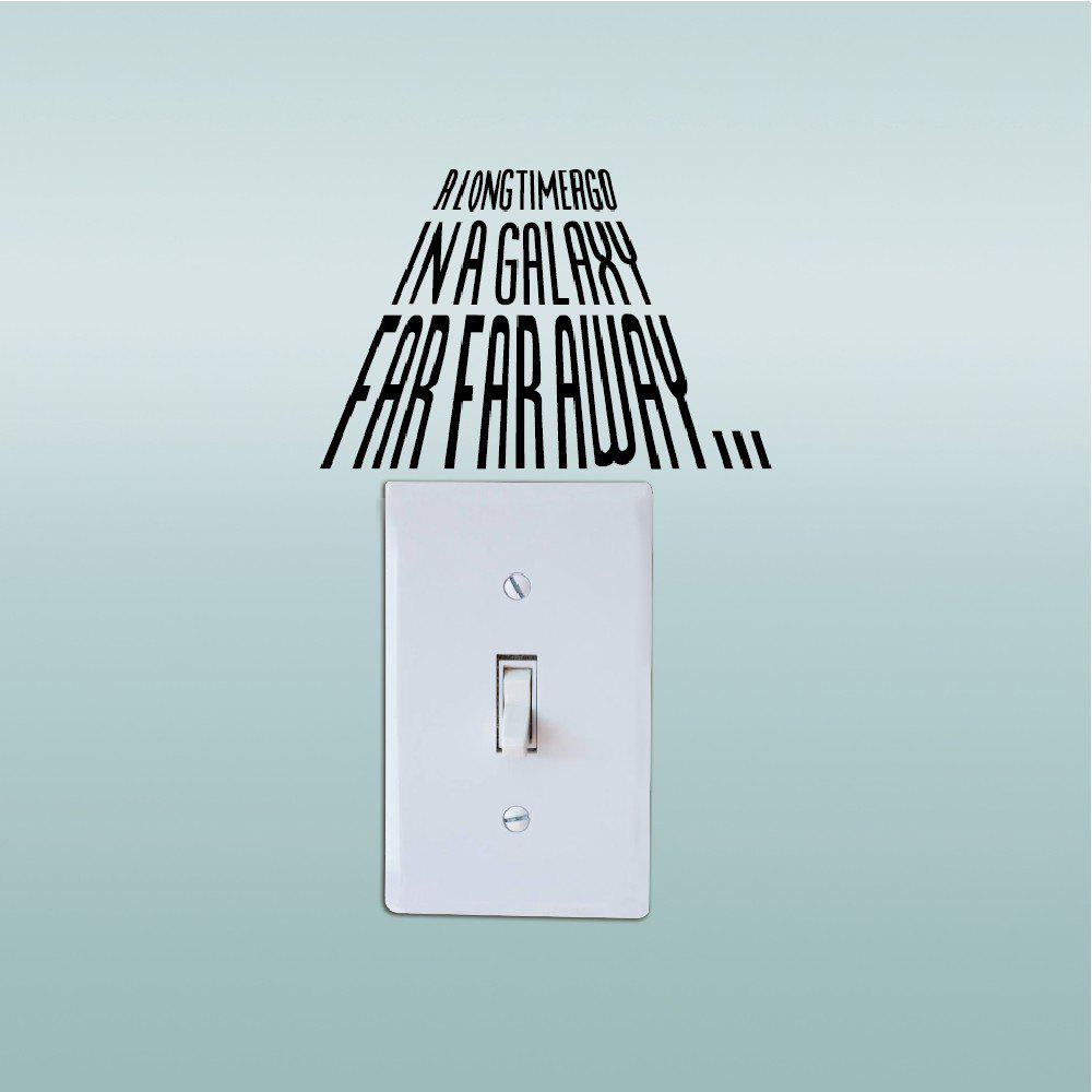 Removable Mural Light Switch Sticker Vinyl Wall Decal Home Decor - BLACK 8.6X13CM