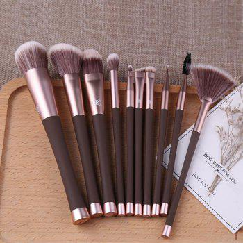 10 Small Waist Patent Brushes - BROWN BEAR