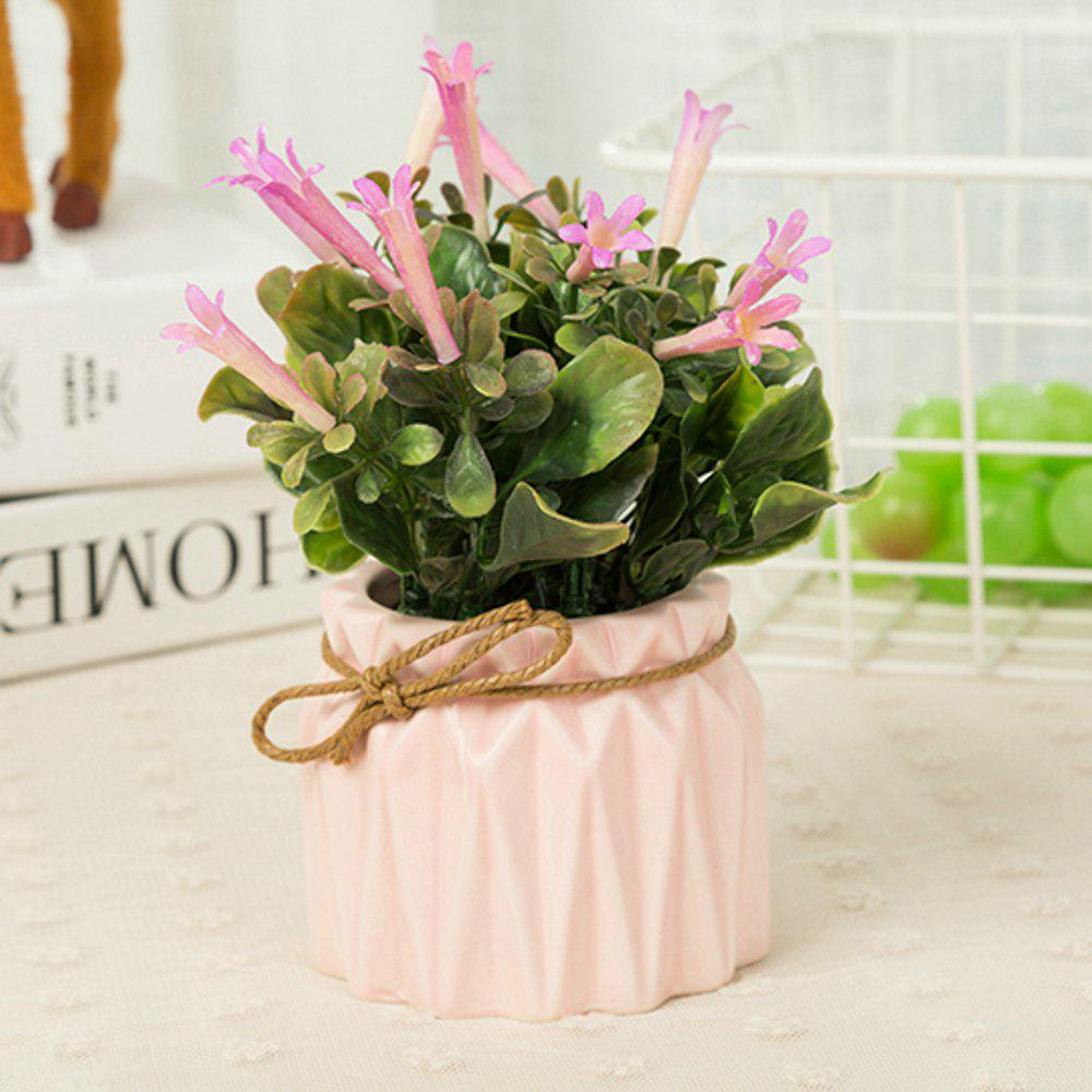 WX-B26 Pastoral Home Decoration Ornament Morning Glory Potted Plant - PINK