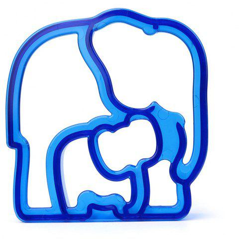 Elephant Shape Kid Lunch Sandwich Toast Cookie Cutter Cake Bread Biscuit Mold - OCEAN BLUE
