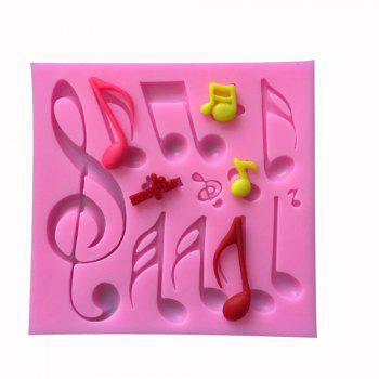 Musical Note Fondant Cake Mold Silicone Chocolate Baking Decorating Tool - PINK