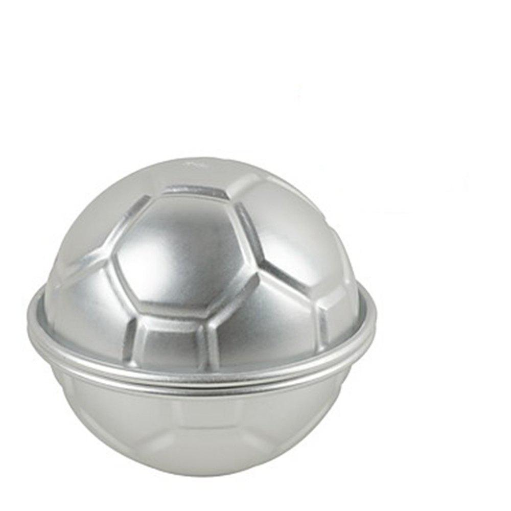 2pcs Half Round Ball Shaped Football Cake Mold Cookie Decorating Sugarcraft Tool - SILVER