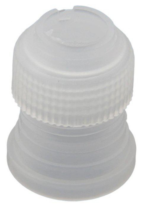 Cake Decorating Converter Coupler Icing Piping Nozzle Cream Pastry Bag Adaptor - MILK WHITE