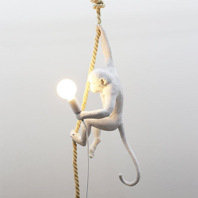 MS - 35W Contemporary Simple Monkey Style Pendant Light for Restaurant Mall - WHITE 220-240V