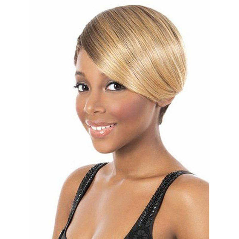 Women Fashion Personality Oblique Bangs Short Straight Hair Wig