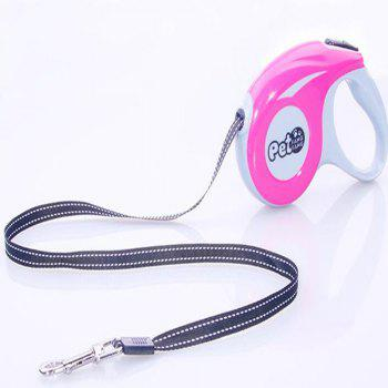 Automatic Telescopic Pet Dog and Cat Traction Rope - multicolor A