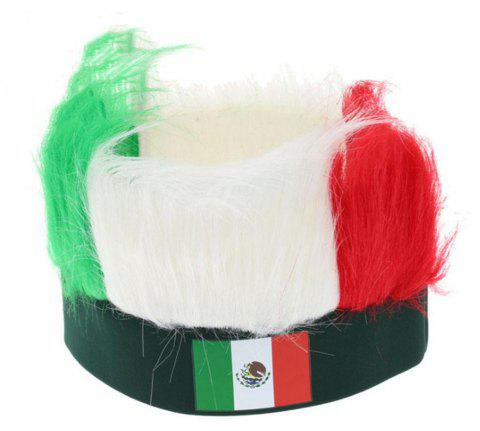 Special Wig Holiday Decoration for Soccer Fan - multicolor D