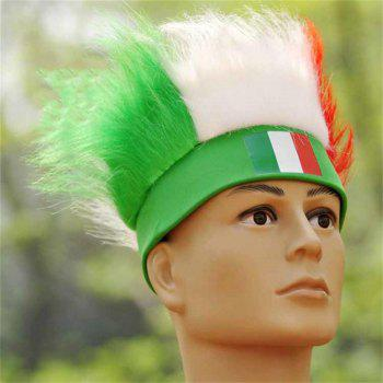 Special Wig Holiday Decoration for Soccer Fan - multicolor