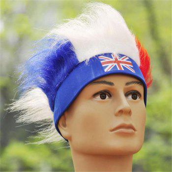 Special Wig Holiday Decoration for Soccer Fan - multicolor A