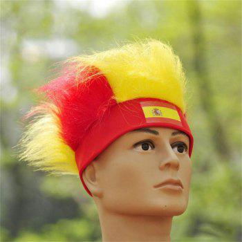 Special Wig Holiday Decoration for Soccer Fan - multicolor B