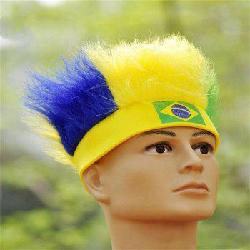 Special Wig Holiday Decoration for Soccer Fan - multicolor G