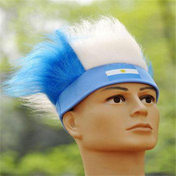 Special Wig Holiday Decoration for Soccer Fan - multicolor H