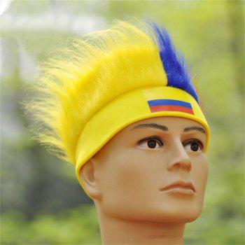 Special Wig Holiday Decoration for Soccer Fan - multicolor I
