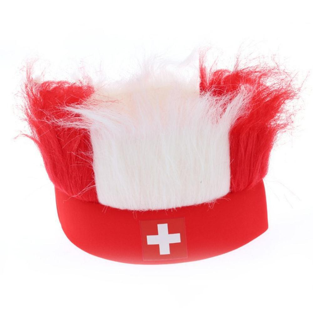 Special Wig Holiday Decoration for Soccer Fan - multicolor C