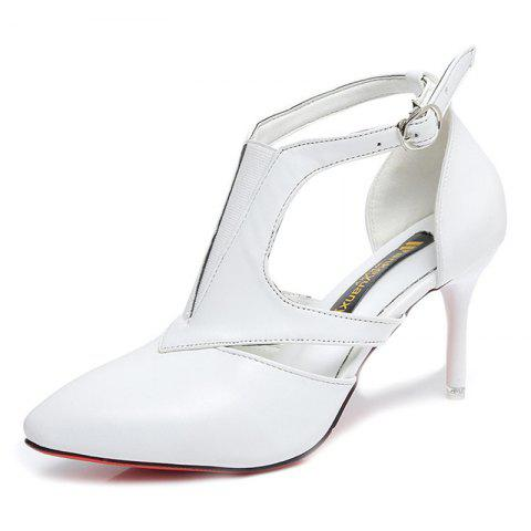 8692029813e8 Women Low Kitten Heel Pump Shoes Sexy Pointed Toe Sandals - WHITE 35. Sold  Out