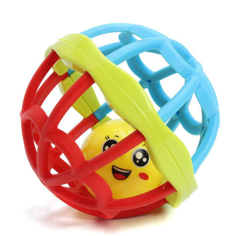 Intelligence Baby Hand Grasping Ball Rattle Toy - multicolor