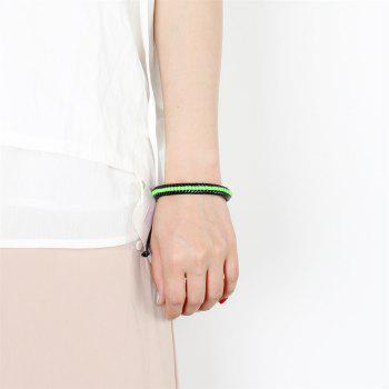 Fashion Ornament Weave Multi Color Rope Bracelet - GREEN