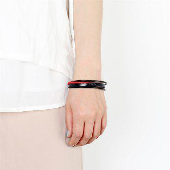 Fashion Jewelry Single Ring Rope Bracelet - RED