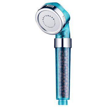 Water Saving Shower Head Anion SPA Filtration Handheld Nozzle - BLUE GREEN L