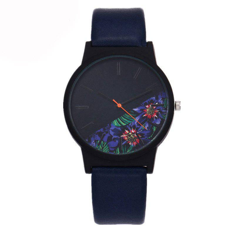 Men'S Quartz Stylish Design Chic Fashion Casual Watch - BLUE JAY