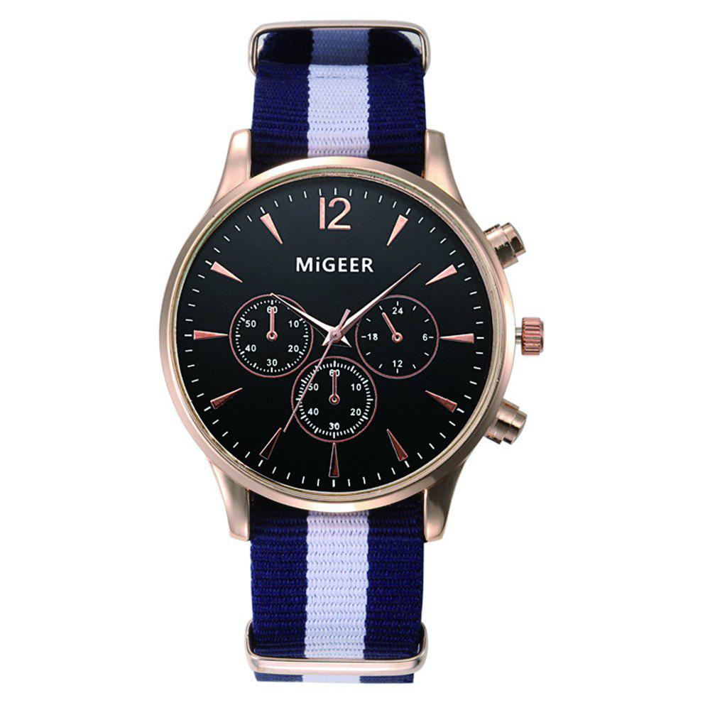 MiGEER Mens Fashion Canvas Analog Quartz Watch - NIGHT