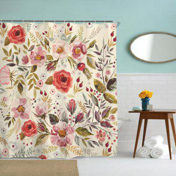 Romantic Flowers Water-Proof Polyester 3D Printing Bathroom Shower Curtain - multicolor A W71 INCH * L71 INCH
